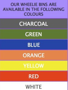 wheelie bin colours