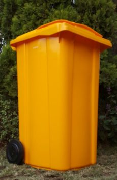 240L YELLOW WHEELIE BIN